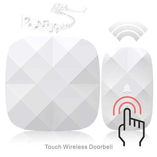 Wireless Doorbell, Aogek 52 Melodies and 300M/1000Feet Operating Range Portable Plug-in,Diamond Style