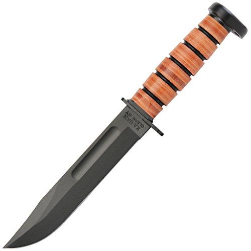 Ka-Bar 1317 Dog's Head Utility Fixed Blade Knife, Brown, 12
