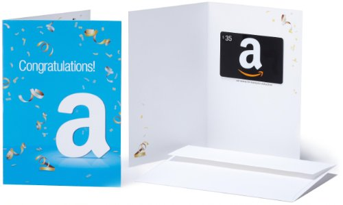 Amazon.com $35 Gift Card in a Greeting Card (Congratulations Design)