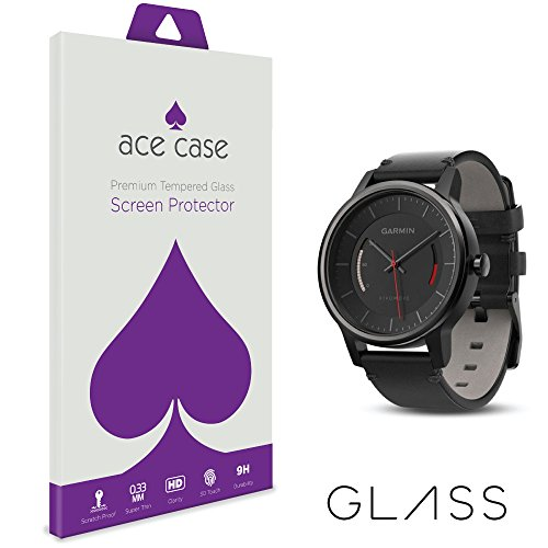 Garmin VivoMove Screen Protector Tempered Glass INVISIBLE Front Shield Scratch Proof Protection Exclusive to ACE CASE