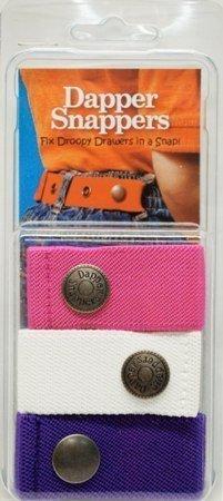 Dapper Snapper Made in USA Baby & Toddler Adjustable Belt 3 Pack ~ Pink, White & Purple