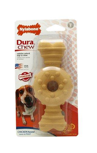 Nylabone Dura Chew Wolf Chicken Flavored Textured Ring Bone Dog Chew Toy
