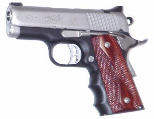 Pearce Grips Gun Fits 1911 Compact Model Rubber Finger Groove Insert