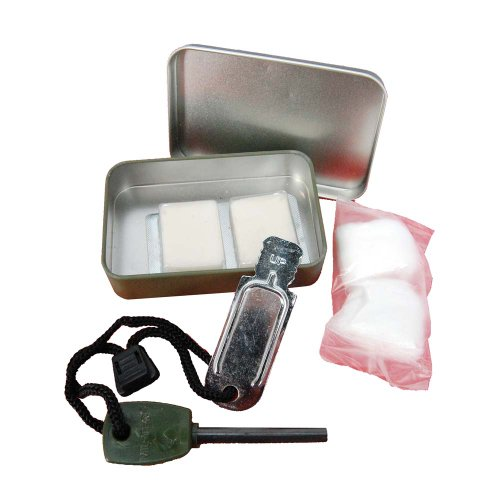 Camping Flint Survival Lighter Striker Fire Kit with Box