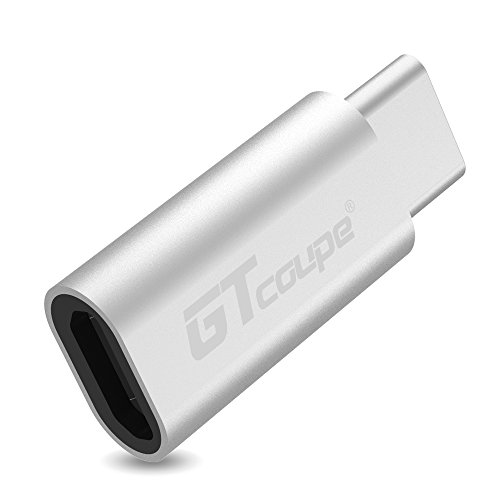 Gtcoupe Micro USB to Type-C adapter Converter Connector, Sliver