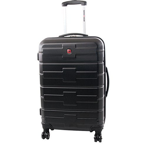 Swiss Gear Cross Collection 28-Inch Upright Expandable 8 Wheel Spinner, Black, Checked - Large