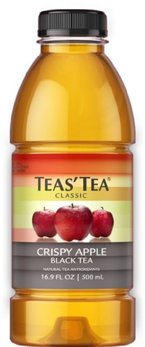 Teas' Tea Crispy Apple Black Tea, 16.9 Ounce Bottles (Pack of 12)