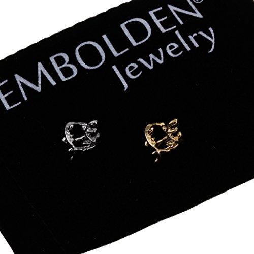 Charm Gold and Silver Leaves Shape Ear Bone Clip Earrings Set