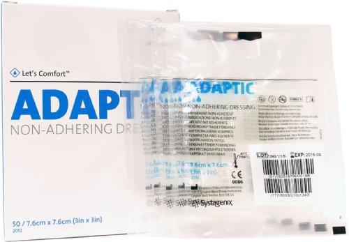 Adaptic Non-Adherent Dressing 3 x 3 (Pack of 5 Dressings)