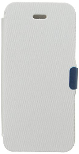 Insten Luxury Magnetic Flap Leather Skin Case Cover compatible with Apple iPhone 5 / New iPhone - Carrying Case - Retail Packaging - White