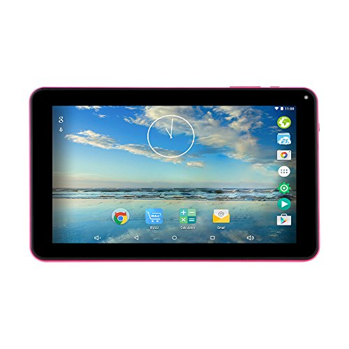iRULU eXpro X1a 9 Inch 8GB Quad Core Tablet PC, Google Android 4.4 Kitkat, 1024*600 Resolution, WiFi(Pink Rear)