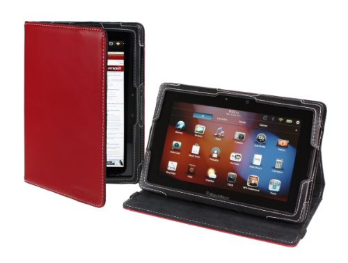 Cover-Up BlackBerry PlayBook Tablet PC Faux Leather Cover Case (Version Stand) - Red