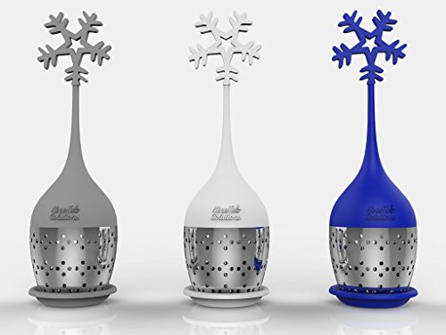 Ni•ce•Tea Solutions Snowflake Silicone Stainless Loose Leaf Tea Infusers/Strainers