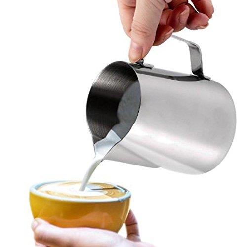 Milk Pitcher, Dailyart 600ml/20fl.oz. Stainless Steel Milk Cup Milk Frothing Pitcher Milk Jug