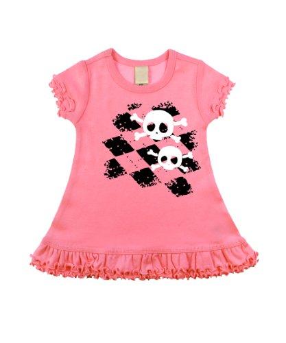 Argyle Skull Bubblegum Pink Short Sleeve Dress (6-12 Months)