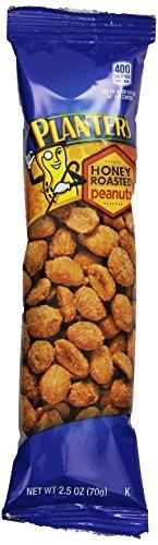 Planters Super Tube Nuts, Honey Roasted Peanuts, 15-2.5-Ounce