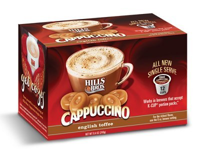 Hills Bros English Toffee Cappuccino Keurig K-Cups, 12 Count