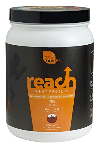 Zahlers Reach, Whey Protein Shake powder, advanced formula for Lean muscle build, all-natural weight management product, naturally sweetened and flavored, Certified Kosher, #1 best great delicious tasting Chocolate Flavor, 1.1 Pound