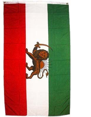 Iran (old) Flag Polyester 3 ft. x 5 ft.