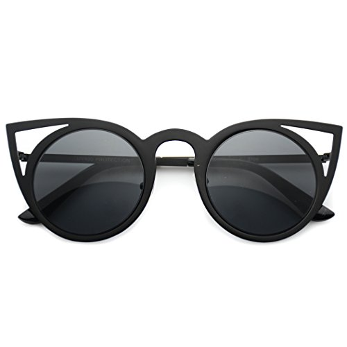 Womens Cateye Retro Fashion Retro Round Lens Cat Eye Sunglasses