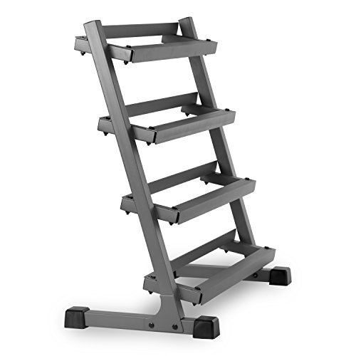 XMark Fitness Four Tier Dumbbell Rack (3-Feet)