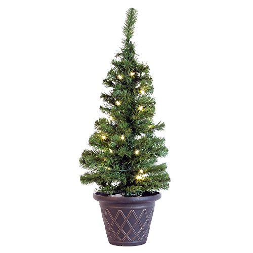 Vickerman 267035 - 3' x 18 Solar Tree - 30 Warm White Italian LED Lights Christmas Tree (A122131LED)