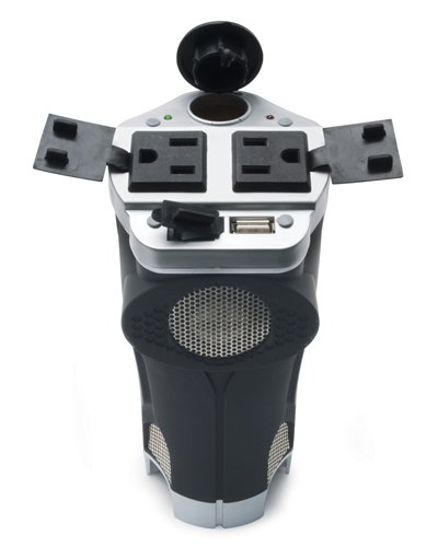 PowerDrive RPPI200C 200-Watt DC to AC Power Inverter with Cup Holder Design, USB Port, and 2 AC Outlets