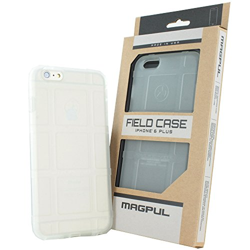 iPhone 6s Plus Case, iPhone 6 Plus Case, Magpul [Field] Polymer Case Cover MAG485 Retail Packaging for Apple iPhone 6 Plus/6S Plus 5.5 inch + TJS Tempered Glass Screen Protector (MAG485 Clear)