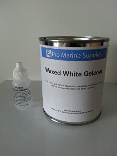 White Gelcoat W/wax and Hardener Kit-quart, Fiberglass Boat Polyester