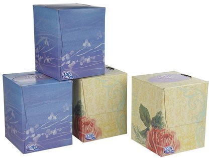 Puffs Cube, Ultra Soft & Strong 4 ea