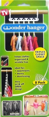 Hampton 744003 Wonder Hanger Closet Space Saver Hanger (8 per Pack)