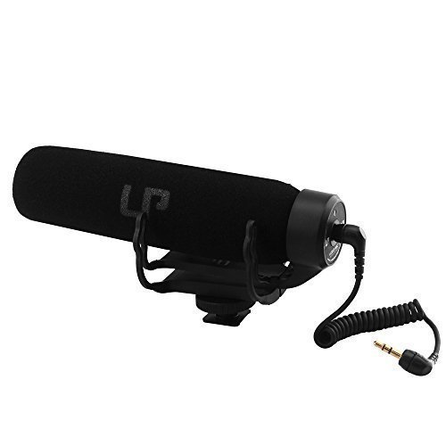 LP Mic/Videomic/Video/Shotgun Microphone,Stablizer Rycote Lyre/for DV/ Camera:Nikon Cannon etc. Best Equipment for MV/Video Shooting lightweight and Portable,No Battery Noise Cancelling(Black)