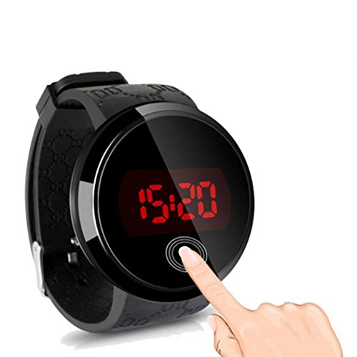 DZT1968® Silicone Wrist Watch Waterproof Men LED Touch Screen Day Date 1PC