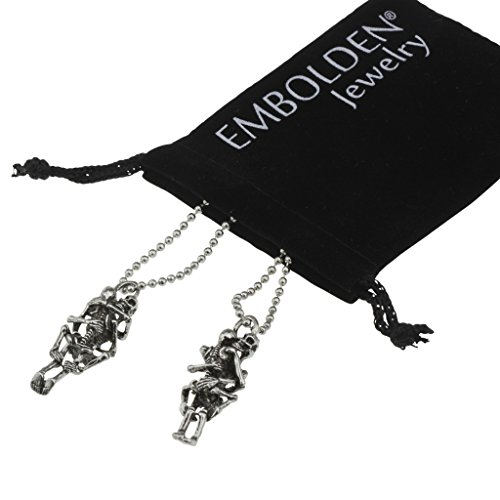 Layered Vintage Silver Skeleton Mood Necklace - Best Jewelry Accessories Women Girls and Teen Girls
