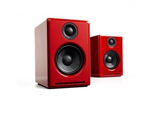 Audioengine A2+ Mini Powered Bookshelf Speakers - Red