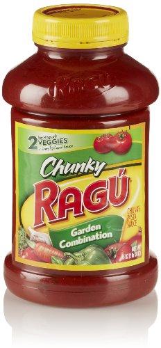 Ragu Chunky Pasta Sauce, Garden Combination, 45 Oz