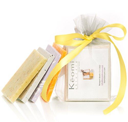HANDMADE SOAP SAMPLER SET - ORGANIC - Scented w/ Pure Aromatherapy Grade Essential Oils - 4 Sample Size Bars