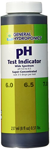 General Hydroponics PH Test Indicator, 8-Ounce