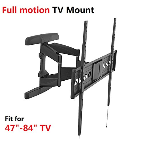Fleximounts A21 extra wide Full motion Swivel Tilt and Rotate TV Wall Mount Bracket for Most 47-84 LED LCD and Plasma Flat Screens up to VESA 800 x 600 and 132lbs with Flush 2 Profile,Compatible with Sony Bravia Samsung LG Haier Panasonic Vizio Sharp Toshiba