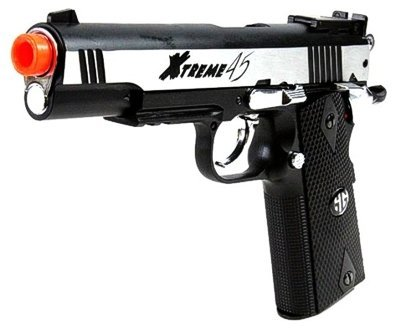 g&g xtreme 45 co2 airsoft pistol - silver(Airsoft Gun)