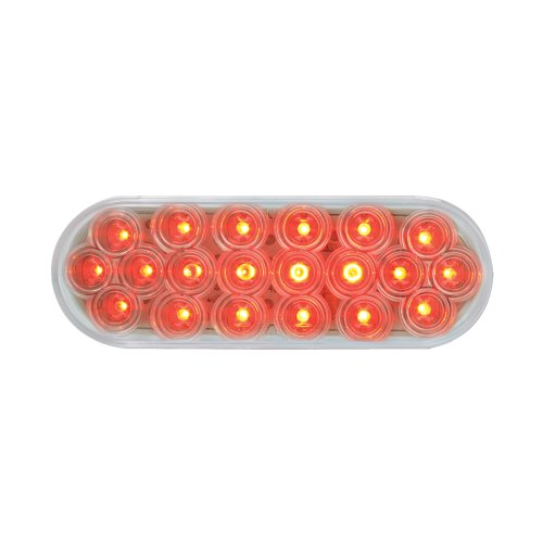 Grand General 87729 Red Oval Fleet 20-LED Stop/Turn/Tail Sealed Light with Clear Lens