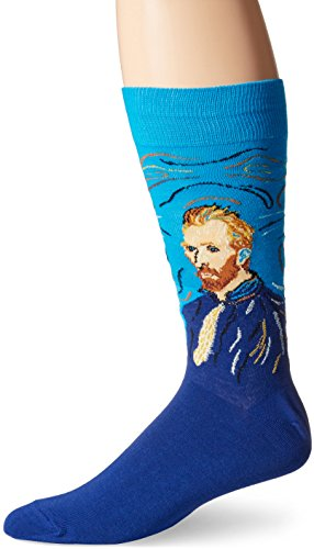 Hot Sox Men's Van Gogh Self Portrait Crew Sock, Assorted, One Size