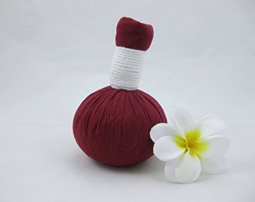 Thai Rose Herb Compress Massage Ball Relaxation Pain Relief Back Shoulder Body Spa Thai Aroma Essential Oil Pain Relax Natural Healing Big Size 220g