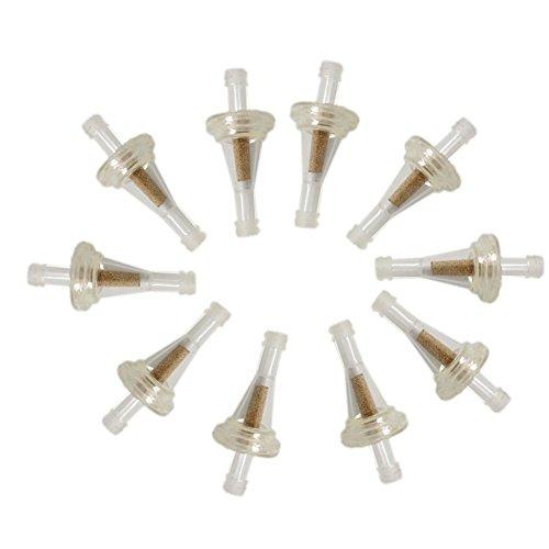New Pack of 10pcs 1/4 Clear Inline Gas Fuel Filter for Kawasaki Golf Cart Replace Snapper 394358S Troybilt 951-3013 John Deere Am107314 Stens 120-006 Ezgo 23013G1