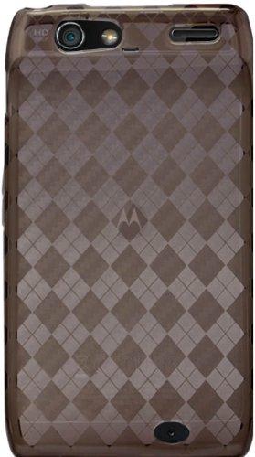 Smoke - Cruzer Lite Argyle High Gloss TPU Soft Gel Skin Case - For DROID RAZR by Motorola (Verizon Wireless) [Cruzer Lite Retail Packaging]