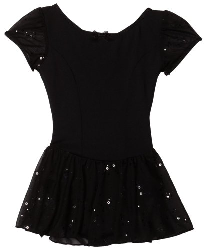 Capezio Little Girls' Sequined Puff Sleeve Dress