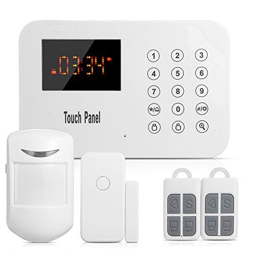 Sunluxy 120 Zones Touch Keypad Wireless Home Burglar Alarm System DIY Kit with Auto Dial