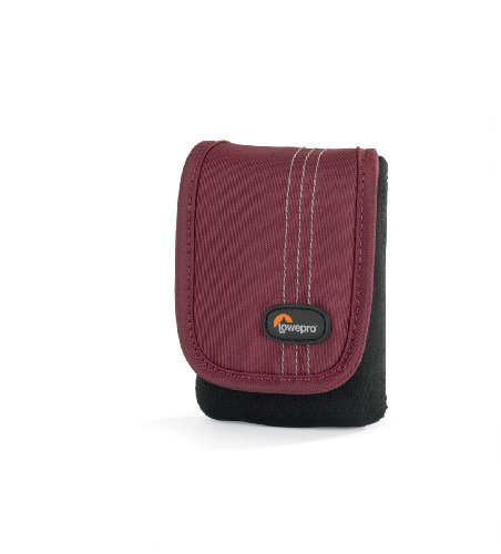 Lowepro Dublin 10 Slim Profile Pouches for Cameras and Compact Video Cameras (Black/Bordeaux Red)