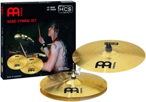 Meinl HCS Cymbal Set Up 14-inch Hihat 16-inch Crash