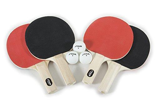 Stiga T1334 Classic 4-Player Table Tennis Racket Set